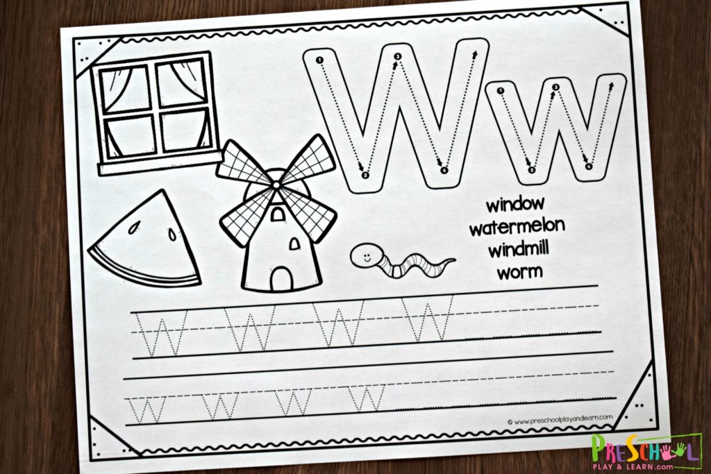 FREE Preschool Handwriting Worksheets