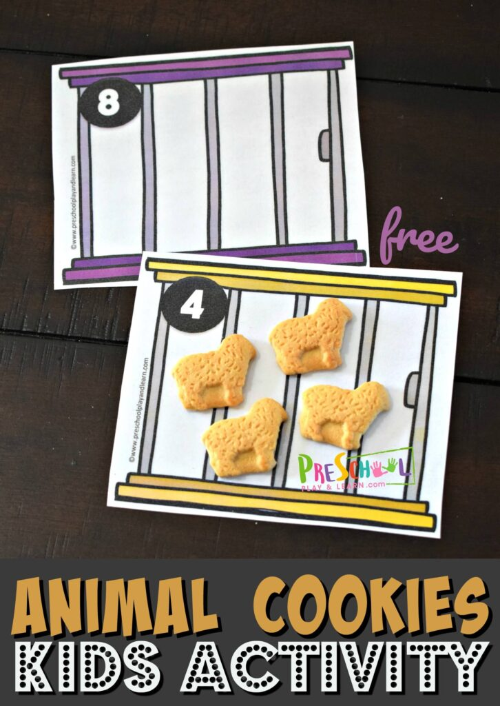 This animal cookies math activity for preschoolers is such a fun way for kids to practice counting
