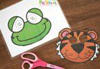 frog and tiger masks for kids
