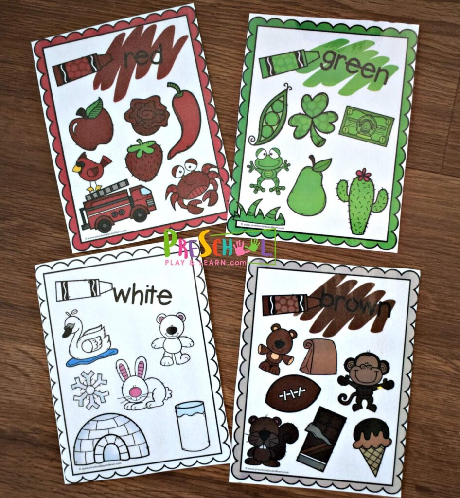 Each color card is a fun way for kids to practice color recognition.