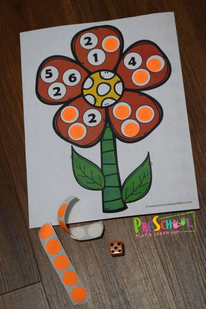 Practice counting with these clever, fun spring themed counting games for kids. Various free printable sheets for toddler, preschool, prek, and kindergarten age kids #counting #mathgames #preschool