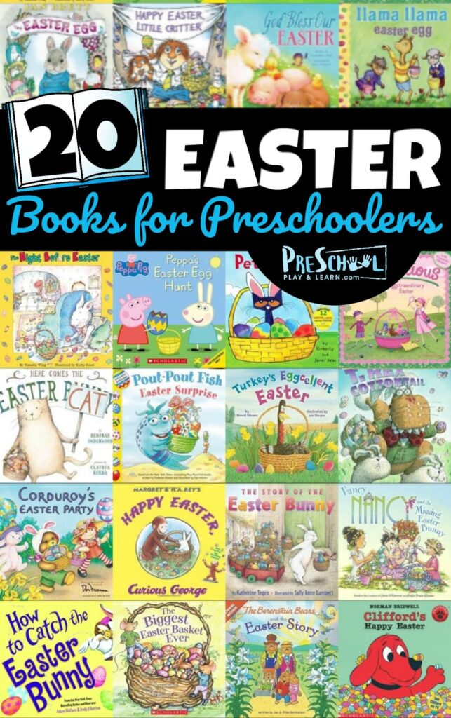 20 Easter Books for Preschoolers- so many fun book recommendations for toddler, preschool, prek, and kindergarten age kids. #bookrecommendations #booklist #easter
