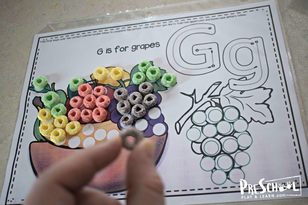 G is for grapes fruit look alphabet worksheet