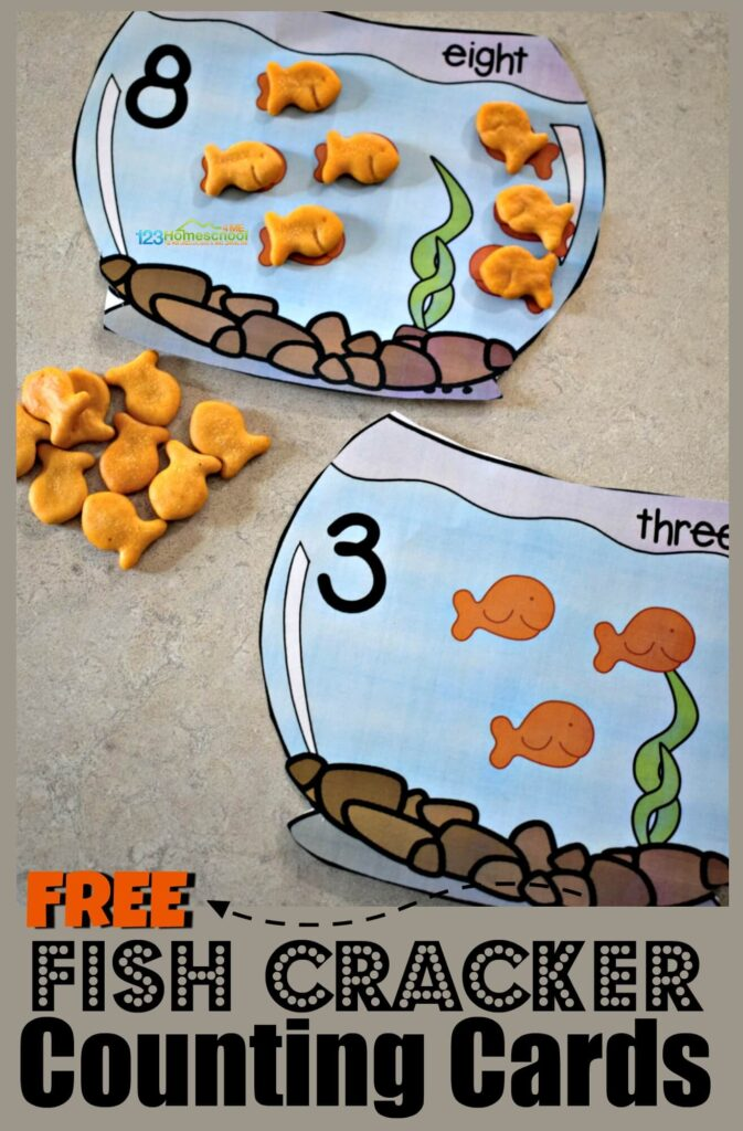 FREE Goldfish Counting Cards