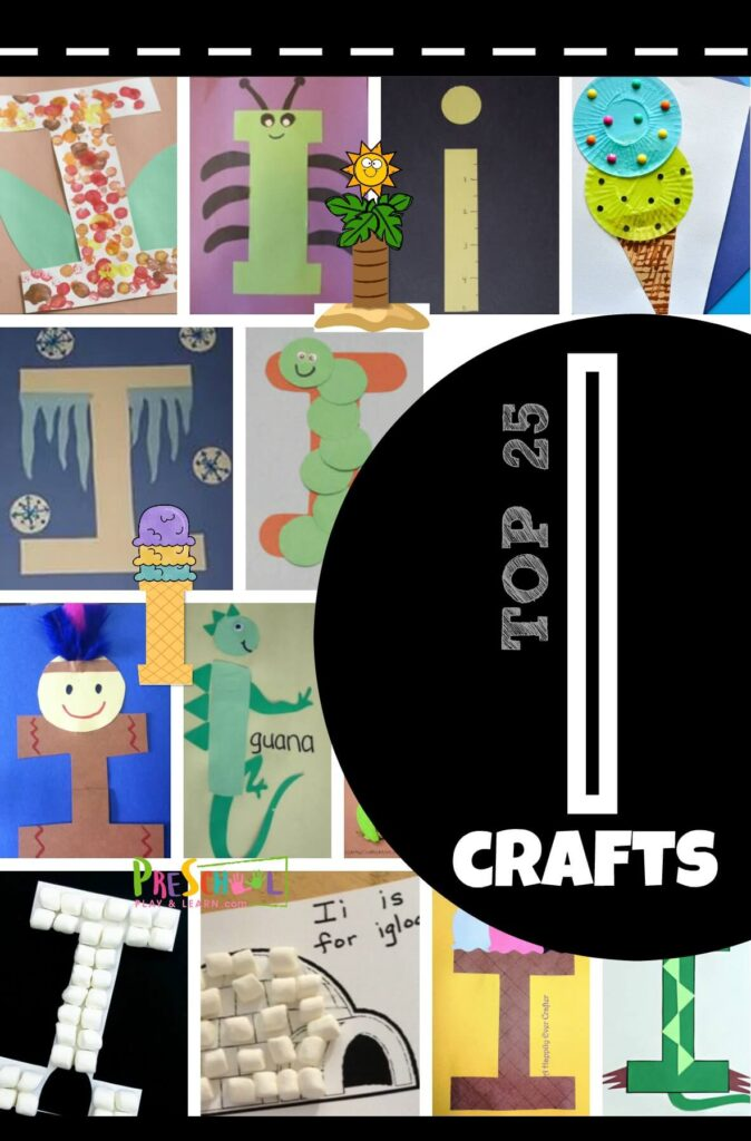 TOP 25 Letter I Crafts - so many super clever and fun to make alphabet crafts for toddler, preschool, prek, kindergarten age kids #alphabet #preschool #lettercrafts