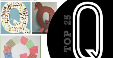 TOP 25 Letter Q Crafts - so many really cute queen, quilt, quail, and q tip alphabet crafts for toddler, preschool, and kindergarten age kids #alphabet #craftsforkids #preschool