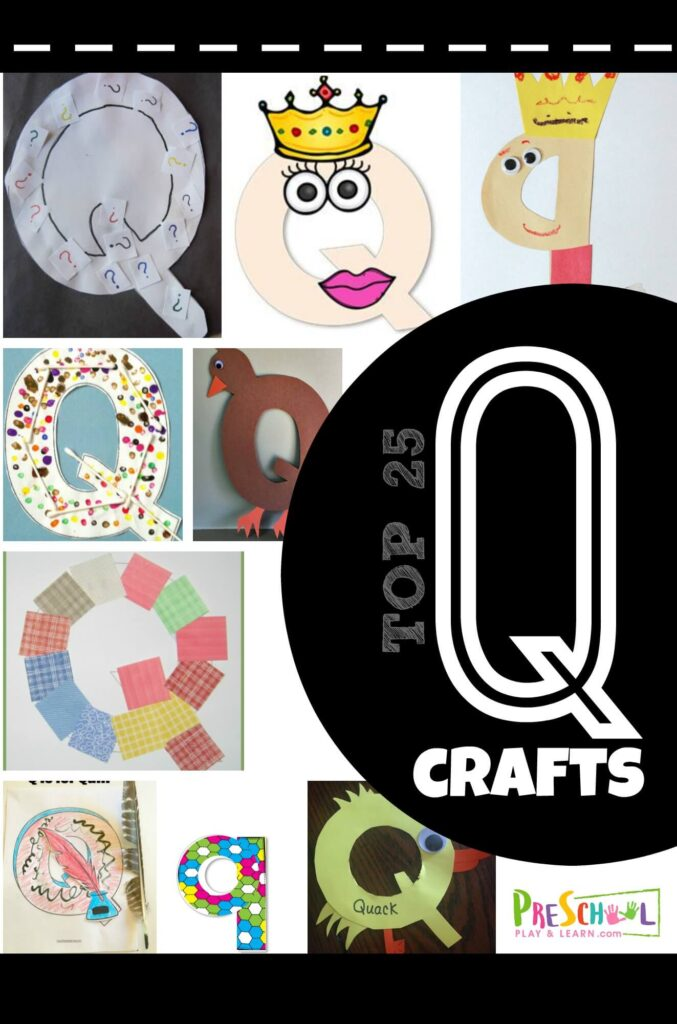 Whether you are making a quilt, quail, or something else, we've got you covered with these tons of fun, super cute Letter Q Crafts. Pick your favorite letter q craft for toddler, preschool, pre k, and kindergarten age children learning their alphabet letters! Because alphabet crafts bake it more fun to your learn your ABCs!