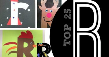 TOP 25 Letter R Crafts - so many cute and clever rooster, rainbow, rabbit, robot, road, and rino crafts for kids letter of the week #alphabet #craftsforkids #preschool