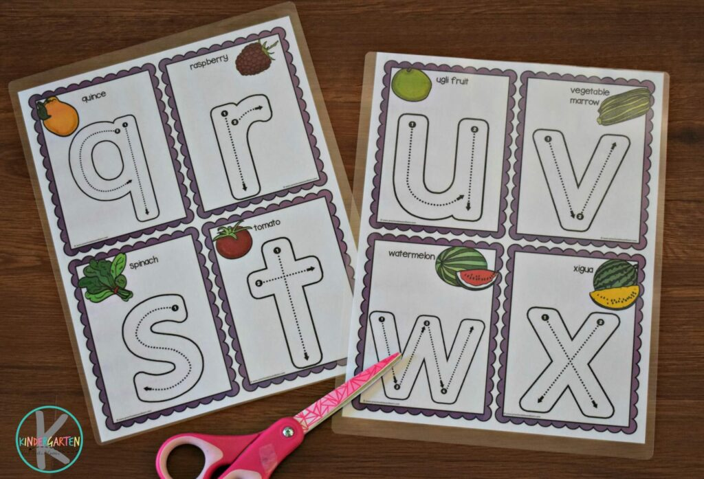 FREE Lower case Alphabet Letters Trace & Erase Cards