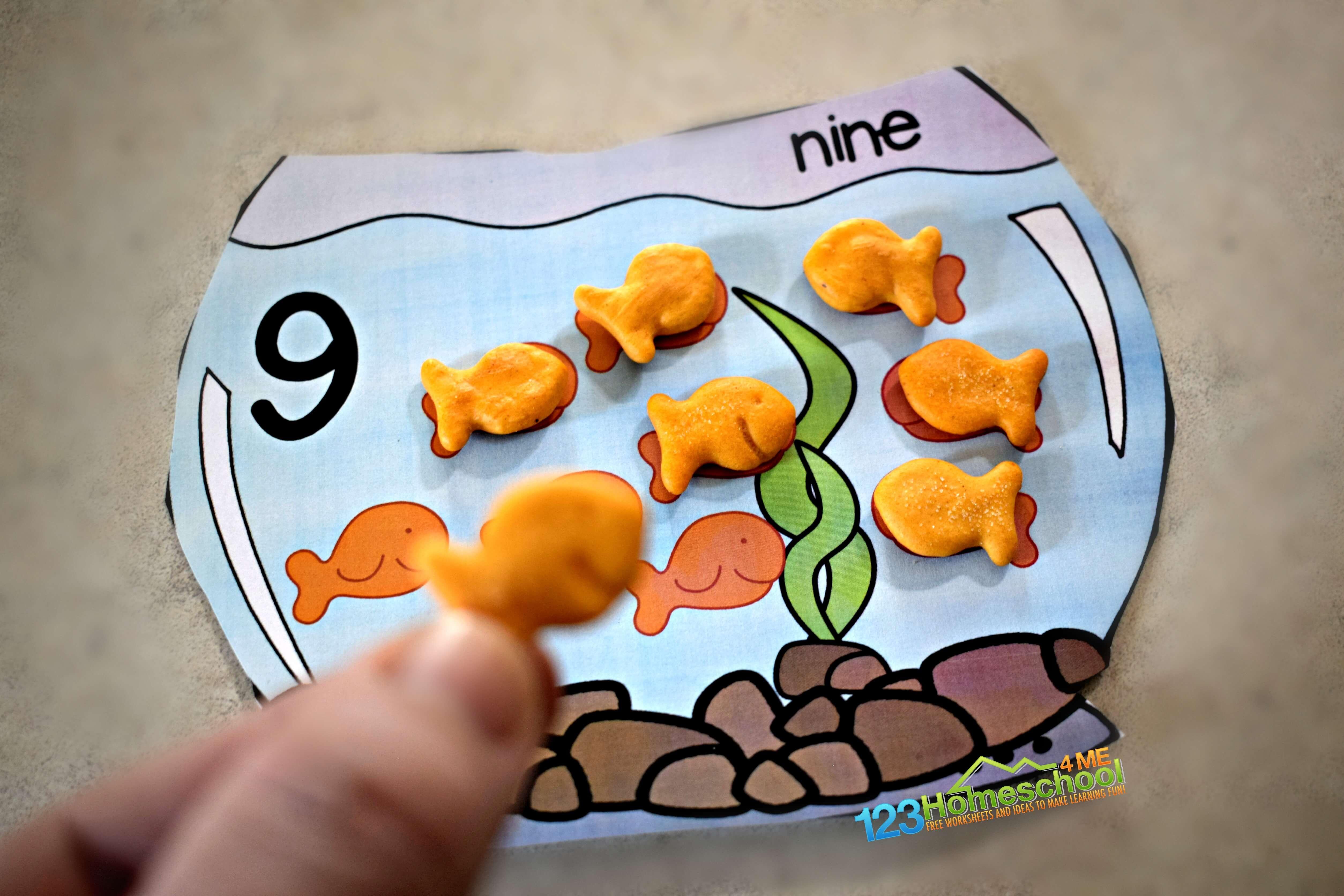 Free Goldfish Counting Printable
