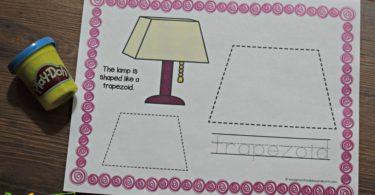 Free preschool shapes activities using playdough for prek.