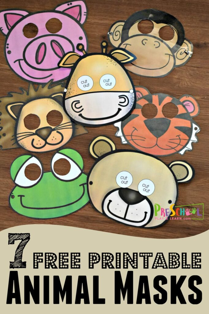 photograph regarding Free Printable Masks titled Cost-free Printable Animal Masks Preschool Engage in and Study