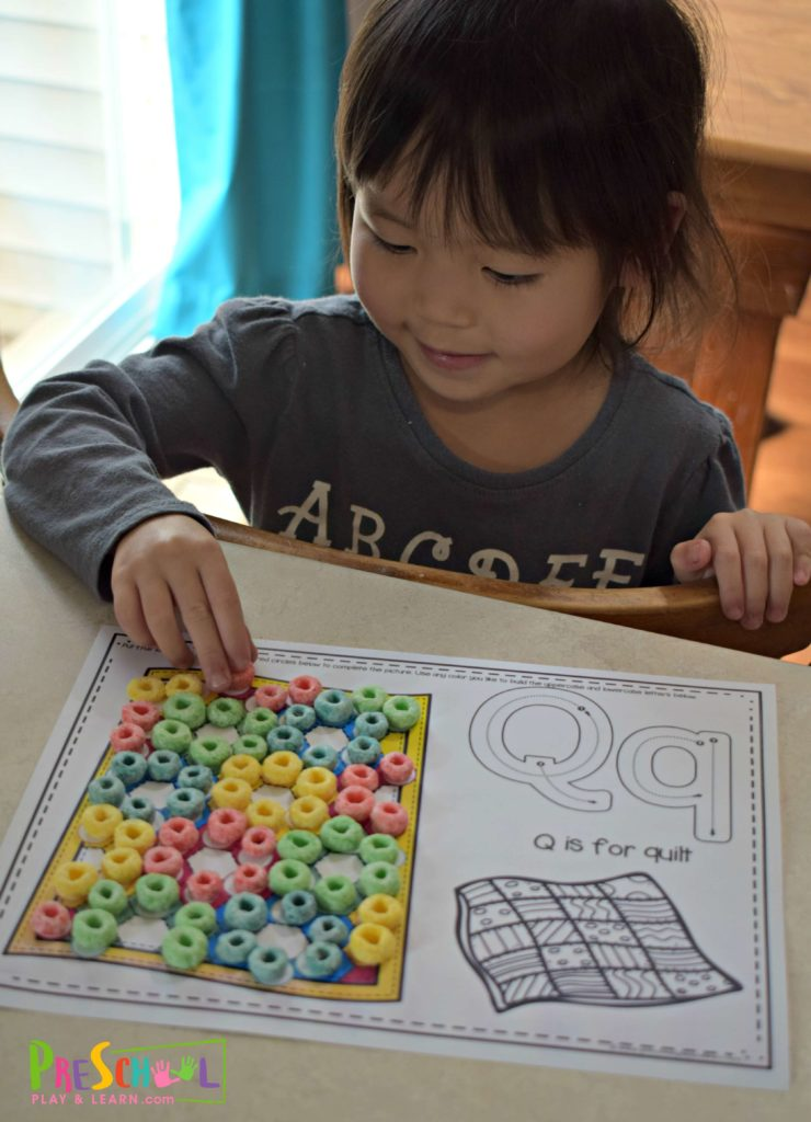 Super cute and fun to make q is for quilt alphabet activity
