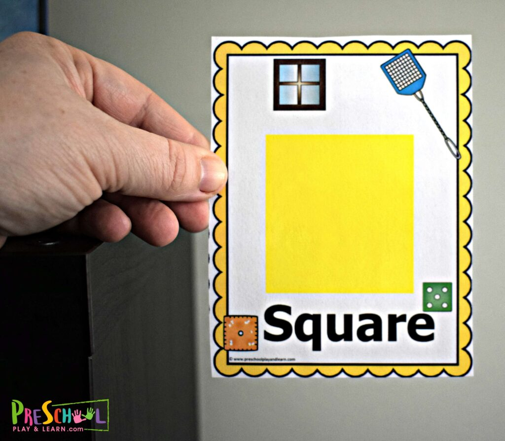 square shape wall card