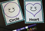 These shapes trace and erase cards are a fun way to practice making shapes.
