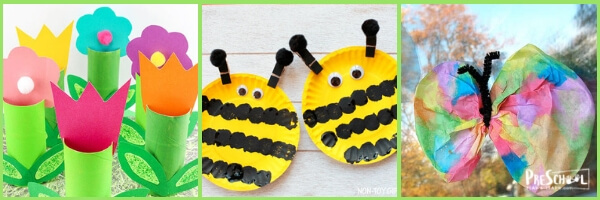 Super cute spring crafts for preschoolers