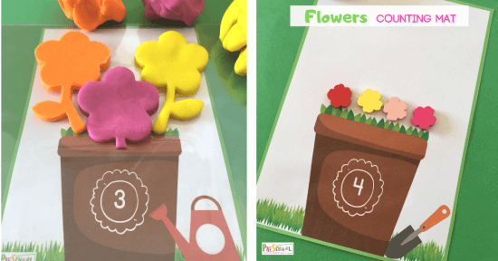 This is such a fun, hands on spring learning activity for toddler, preschool, and kindergarten age kids.