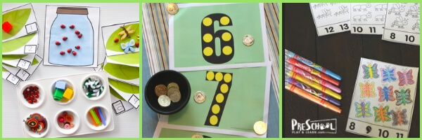 So many fun, engaging hands on spring math activities for preschoolers