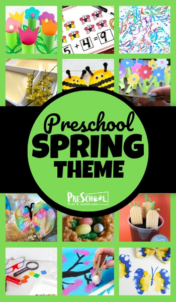 FREE Preschool Spring theme including crafts, math, literacy, free printables, and more! #preschool #spring #preschoolthemes