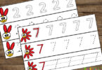 spring-tracing-worksheets