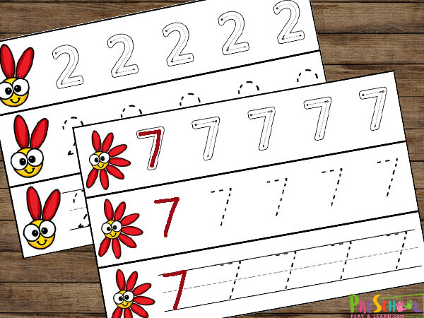 spring-tracing-worksheets