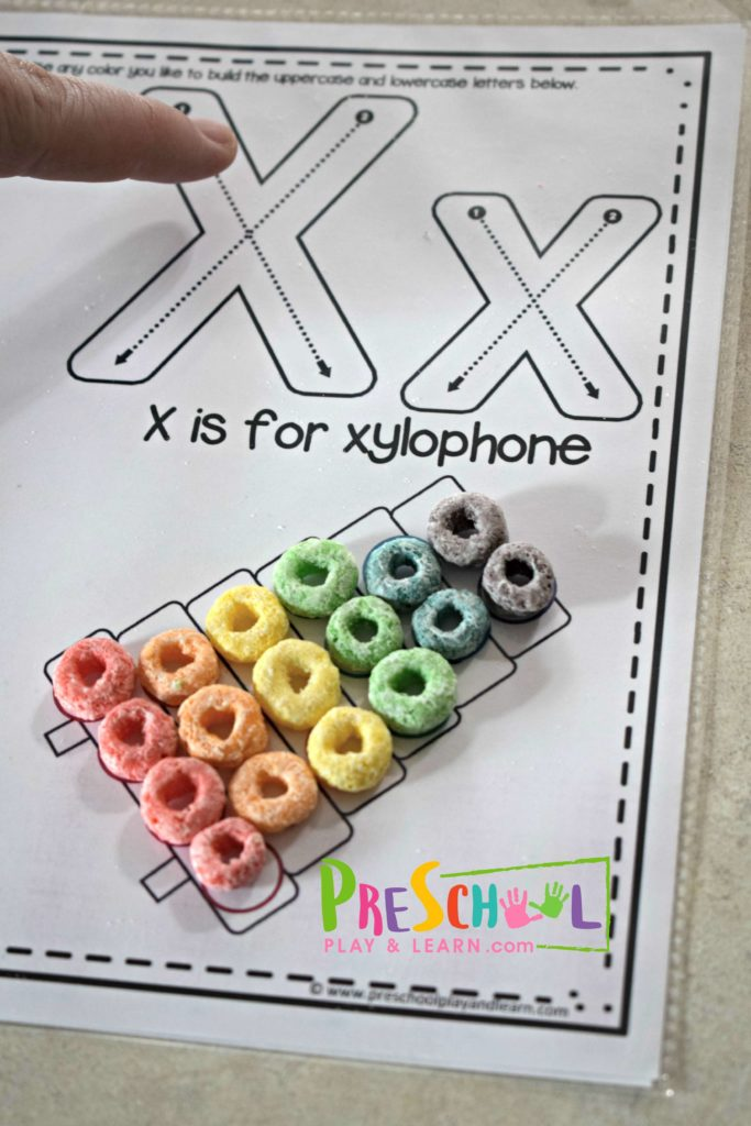 X is for xylophone tracing letters practice