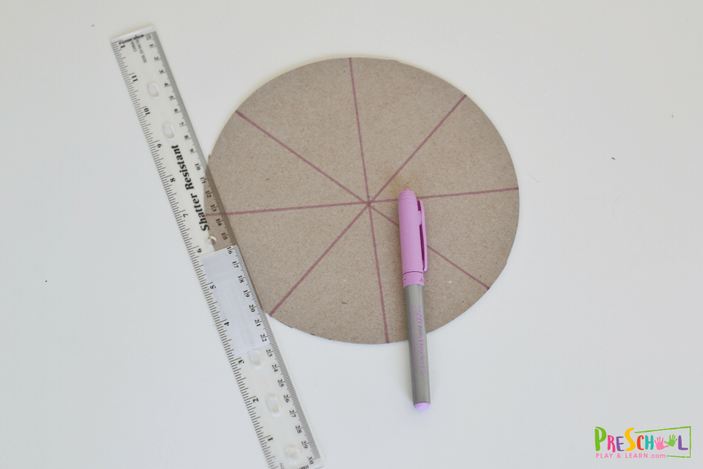 Use a ruler to make 8-10 even pieces