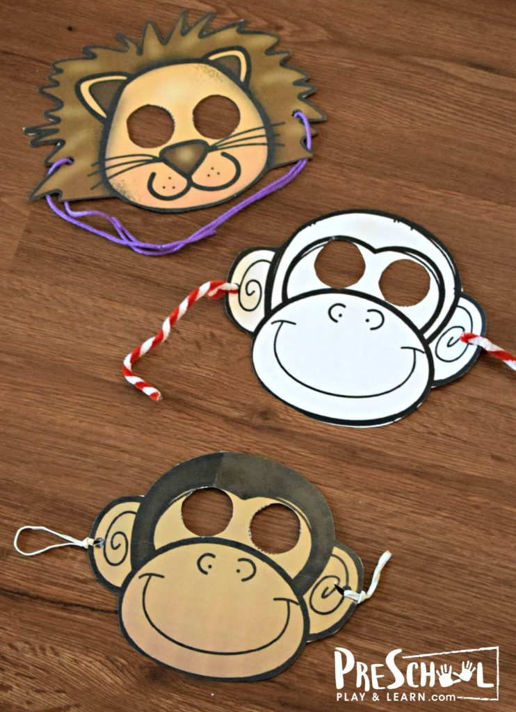 This is an image of Printable Monkey Mask with regard to pinterest