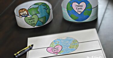 Super cute earth Day craft for toddler, preschool, and kindergarten age kids
