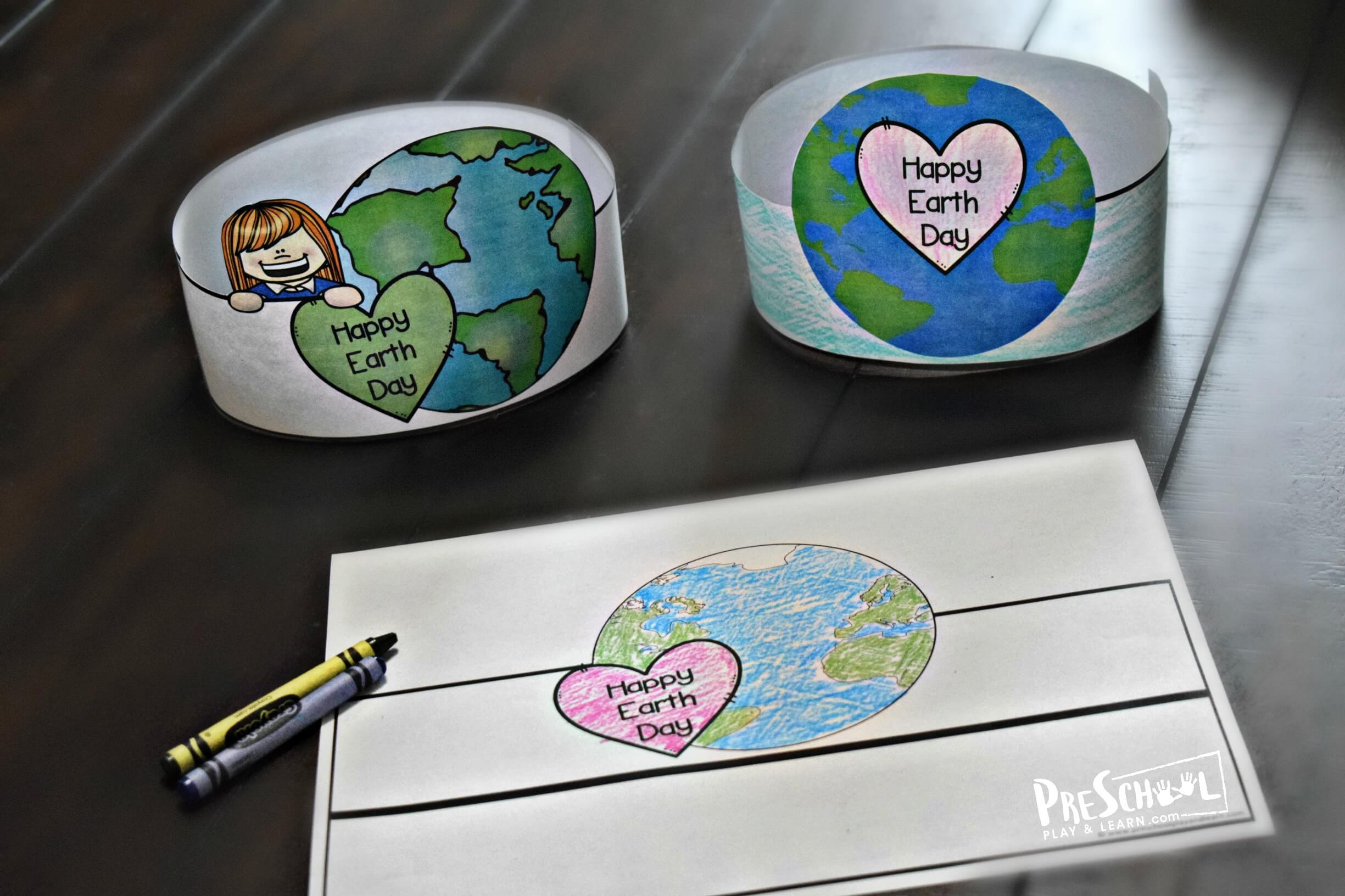 Free Printable Earth Day Hats Craft Activity For Kids
