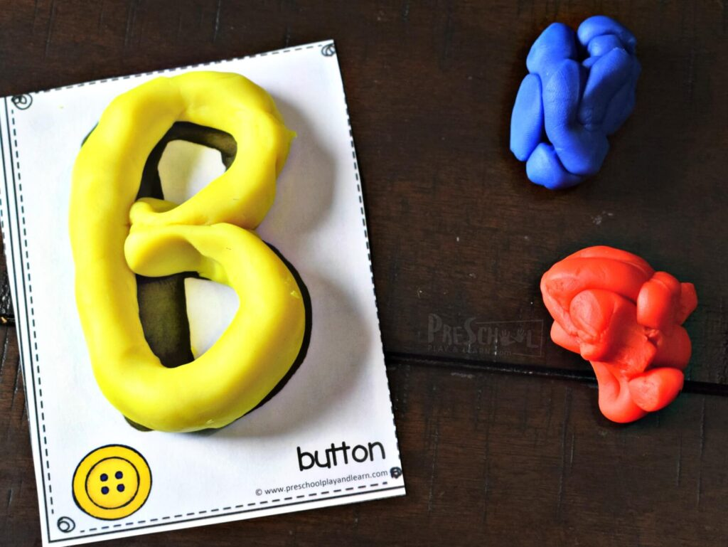 This alphabet activity is also great for strengthening hand  muscles