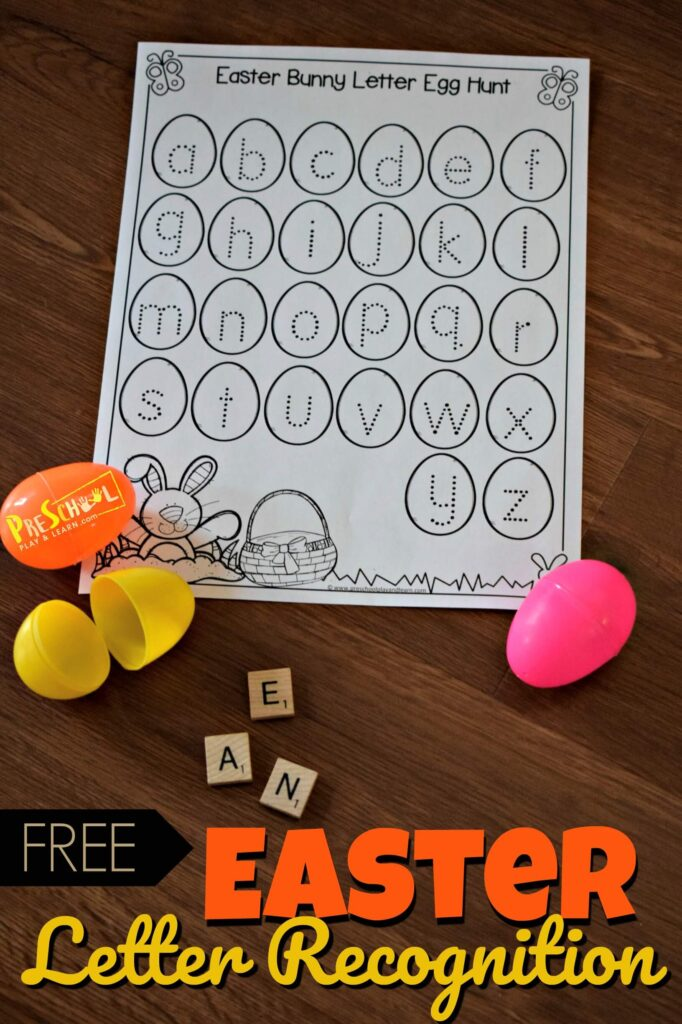 Looking for an educational Easter activities for kids? You will love this fun, hand son alphabet practice