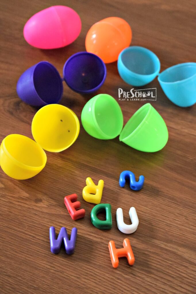 This is such a fun educational easter egg ideas to do with plastic Easter eggs