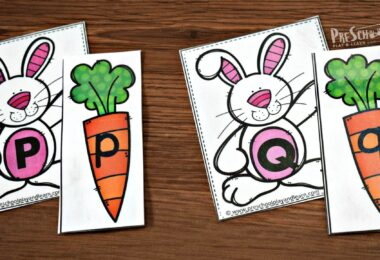 Kids will have fun practicing matching uppercase and lowercase letters in this Easter Letter Game