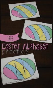 easter letter tracing