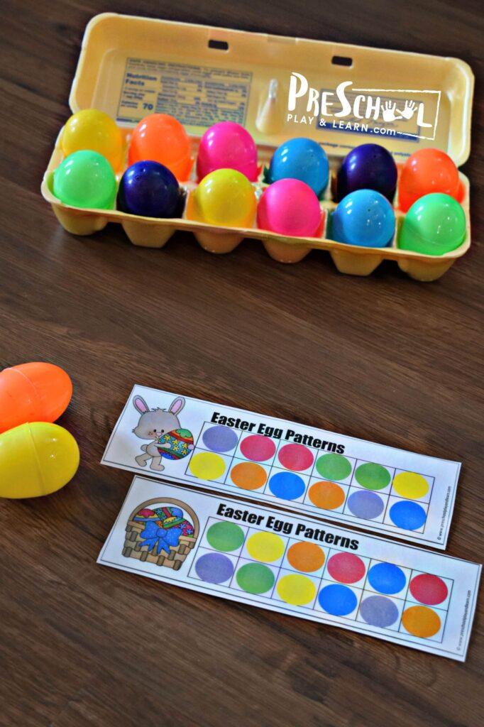 This is such a simple, fun Easter math activities for preschoolers