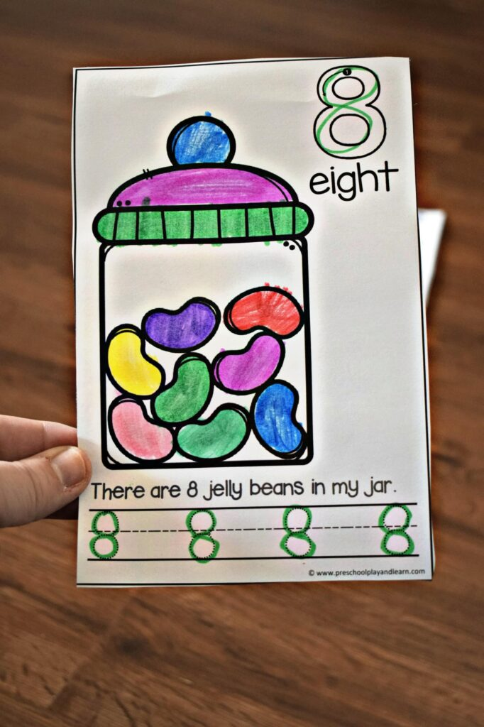 These jelly bean number math worksheets are a fun way to practice numbers 1-10