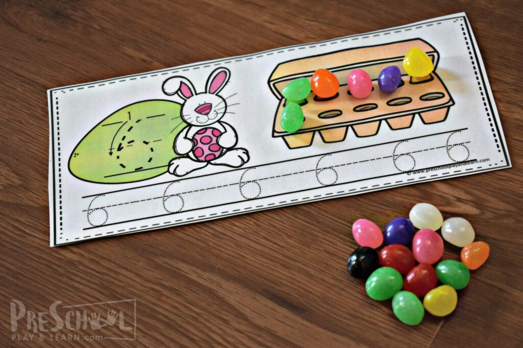 Kids will have fun practicing counting numbers 1-10 with this Easter Printables