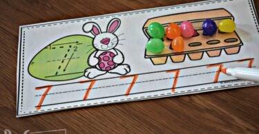 Easter Tracing Numbers Worksheet