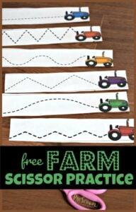 FREE Farm Scissor practice strips