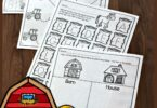 FREE Farm Worksheets for Preschoolers - these super cute, free printable preschool worksheets are a great way to practice counting, letters, colors, and more. #preschool #preschoolers