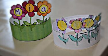Super cute flower craft for toddlers, preschoolers, or kindergartners.