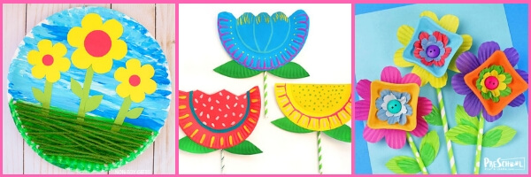 cute flower crafts for preschoolers