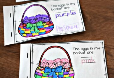FREE Easter Color Words Reader - this is such a fun Easter themed activity for teaching colors to preschoolers. #toddler #preschool #easter