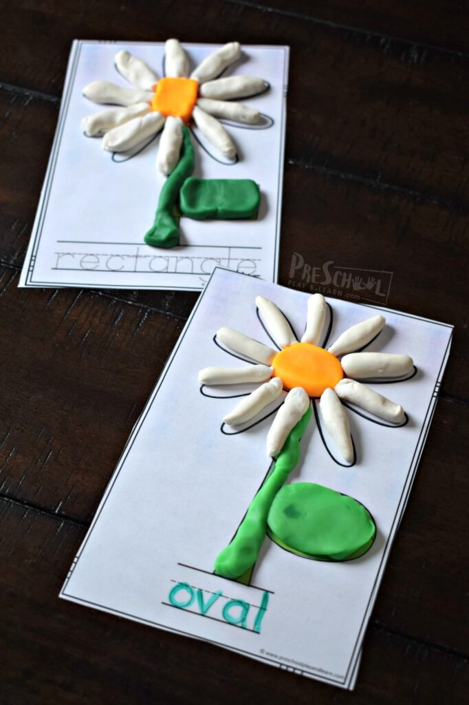 These printable free playdough mats are a fun, hands on math activity for preschoolers.