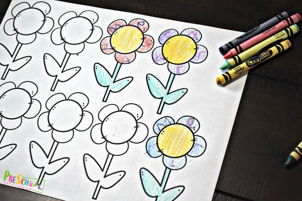 Use this free printable to make a fun spring or summer flower craft