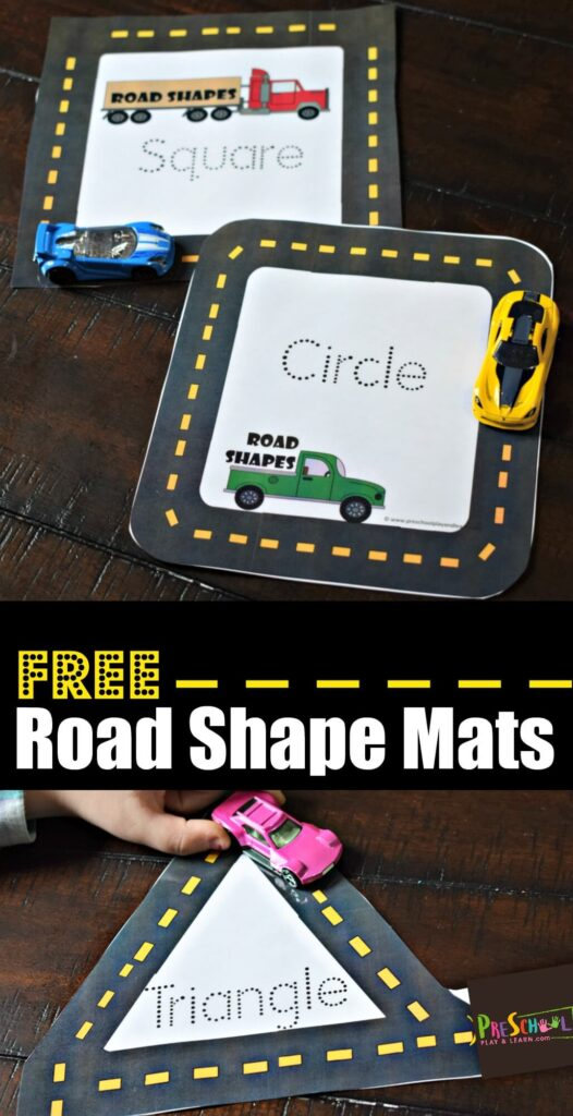 Learn Shapes with hot wheels and road shapes