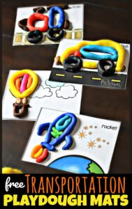 transportation playdough mats