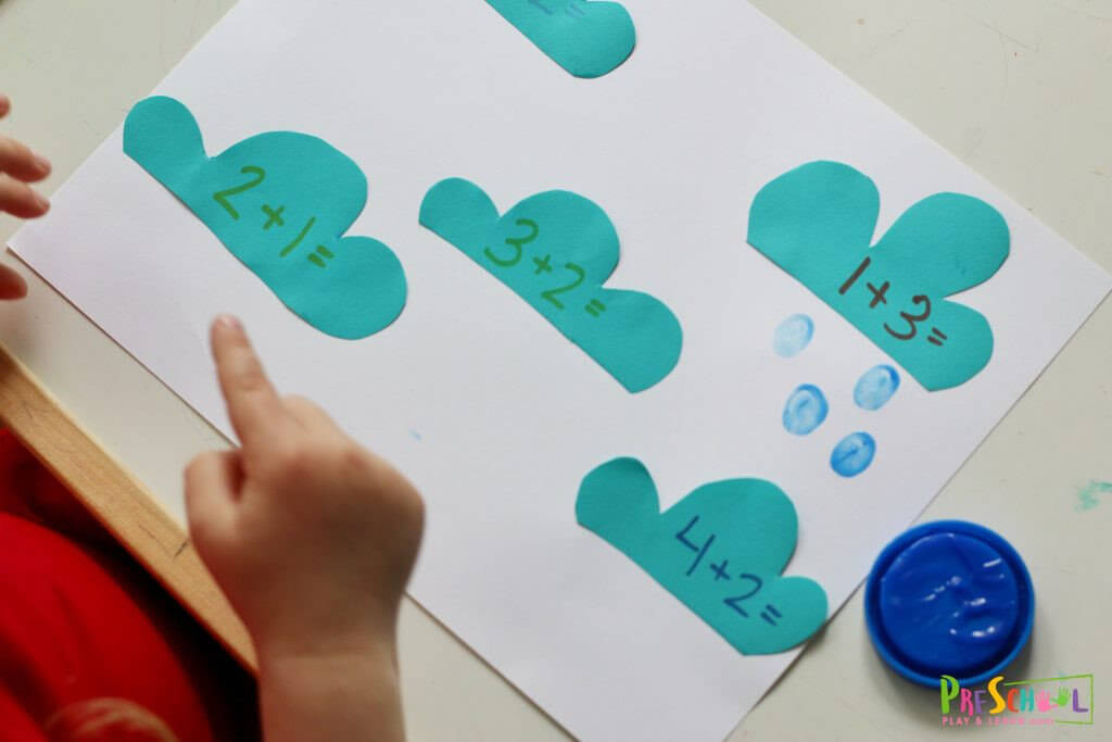 Addition Clouds - Hands on Math Activity