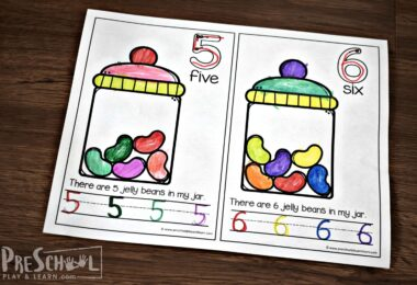 Kids will have fun coloring their jelly beans reader for preschoolers.